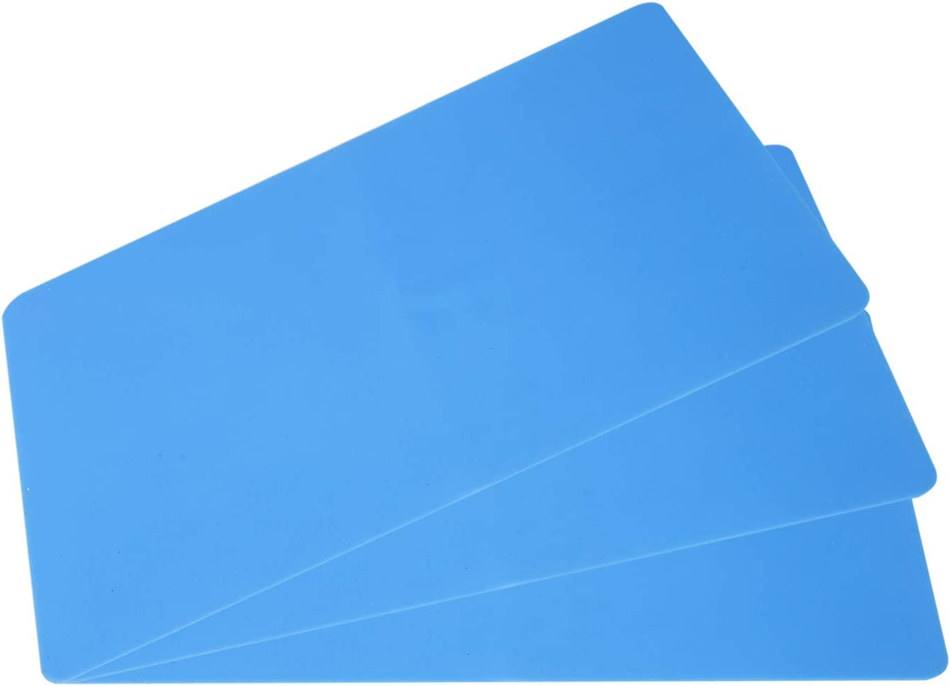 3 PCS Silicone Sheet for Crafts Jewelry Casting Molds Mat, Food Grade 15.7 in x 11.8 in, Blue (Big)