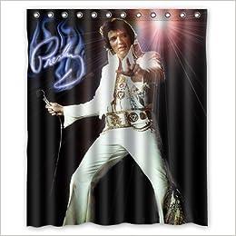 Elvis Aron Presley Custom 100 Polyester Shower Curtain 60 X 72 6069862031526 Amazon Books
