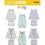 NEW LOOK Patterns Babies' Romper and Sundress with Panties Size A (NB-S-M-L) 6440