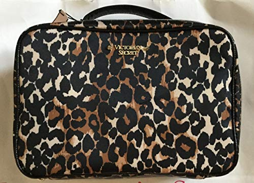 Victoria's Secret Jetsetter Travel Case Cosmetic Bag Trio, Exotic Leopard