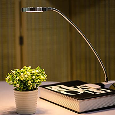 Aoile LED Desk Lamp, Gooseneck Tube LED Clip Table Light USB Portable Eye-Caring Reading Study Clip Lamp Light,