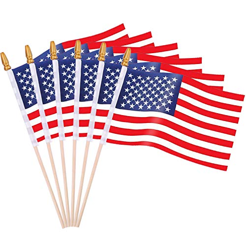 Augshy 65 Pack American Flags Hand Held 4