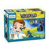Buki Mini Sciences Children's First Basic Toy Binocular Telescope Kit 15 X Zoom for Kids Age 4 to 8