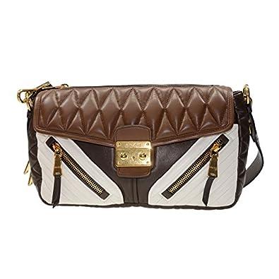 NEW MIU MIU HANDBAG RR1904 2A9F F0QEW LAMBSKIN BROWN Shoulder Bag  Amazon.co .uk  Shoes   Bags fc38e59d3ad21