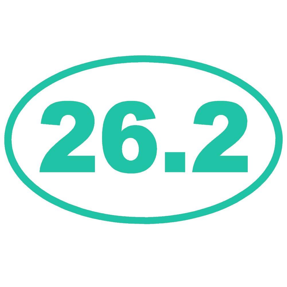26.2 Full Marathon Running楕円形OL ( 2パック)ビニールデカールby stickerdad – サイズ: 3.5インチ、カラー:ターコイズ – Windows、壁、バンパー、ノートパソコン、ロッカー、など。   B07656X51C