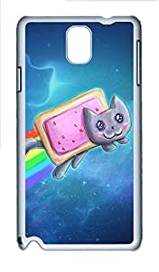 Samsung Note 3 Case Nyan Cat Pop Tarts PC Custom Samsung Note 3 Case Cover White