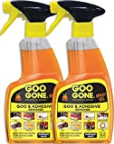 Goo Gone Adhesive Remover Spray Gel - 2 Pack - Removes Chewing Gum Grease Tar Stickers Labels Tape Residue Oil Blood Lipstick Mascara Shoe Polish Crayon etc - 12 Ounce