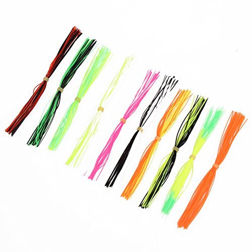 Alloet New 10 Bundles Legs Barred Flake Fly Tying Material