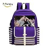 Twilight purple School Backpack Bookbag Daypack Shoulder Bag
