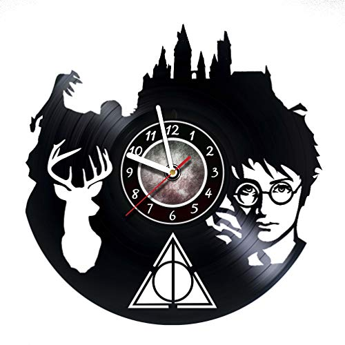 Harry Potter and the Prizoner of Azkaban - Vinyl Record Hogwarts Wall Clock - Poster - Ornaments - Kidsroom wall decor - Gift ideas for boys and girls, children - Movie Unique Modern Wall Art Design