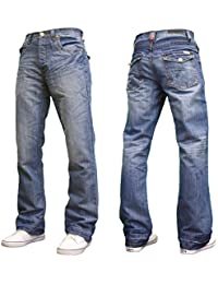 "Mens Designer Basics Regular Fit Bootcut Jeans, 28""-48"""