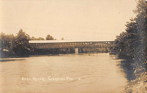 Cornish Maine Saco River Real Photo Antique Postcard K84551