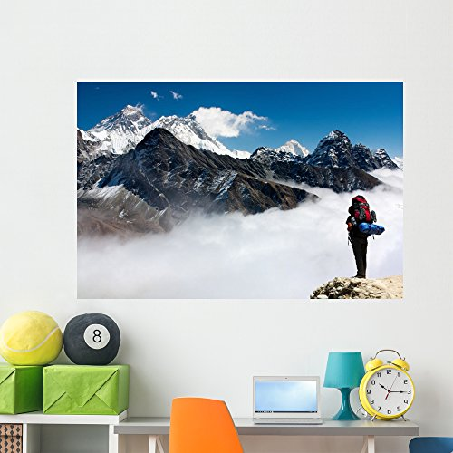Wallmonkeys Everest from Gokyo with Wall Mural Peel and Stick Graphic (60 in W x 40 in H) WM363998