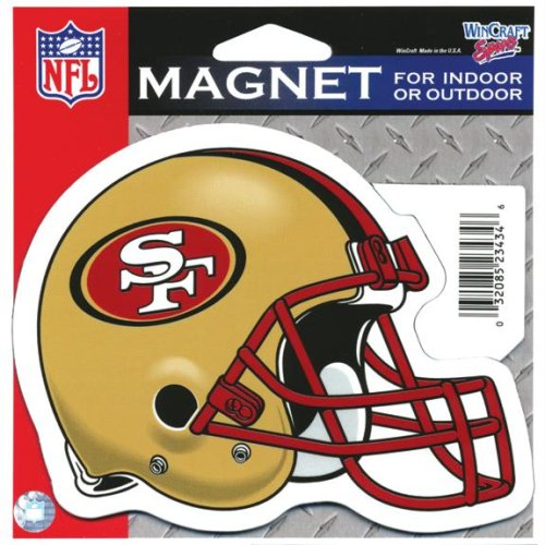 WinCraft San Francisco 49ers Official NFL 4.5 inch x 6 inch Car Magnet by 234346 by WinCraft