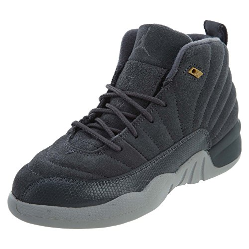 JORDAN 12 Boys sneakers RETRO BP 151186-400 Dark Grey/Dark Grey-wolf Grey