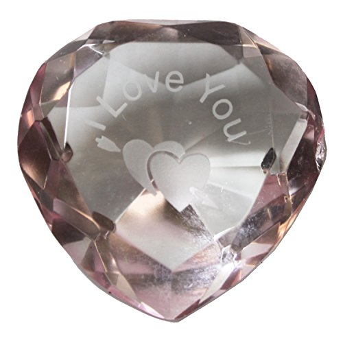 Dazzling Deals Heart Shaped Prism Crystal with I Love You and and Arrow through 2 Hearts -