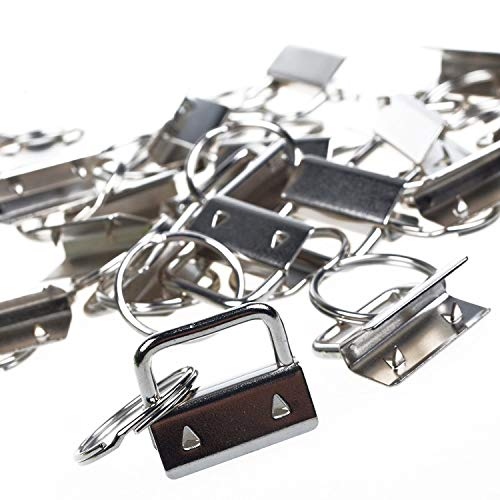 re, Creatiee Metal Wristlet Sets with Key Rings Key Chains (1 Inch) ()