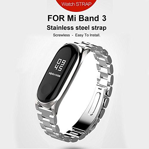 GUYO Miband 3 Strap Replacement Strap Wristband WatchBand Accessories for Xiaomi Mi Band 3(Original Fashion Design) ()