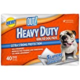 quilted dog pad - OUT! Heavy Duty Quilted Dog Training Pads, 21 x 21, 40 ct
