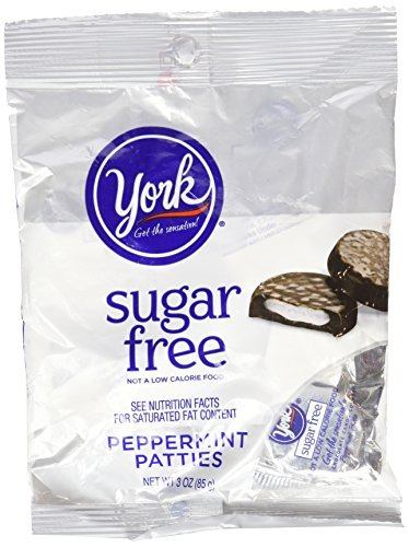 York Dark Chocolate Candy Covered Sugar Free Peppermint Patties, 3 oz by York