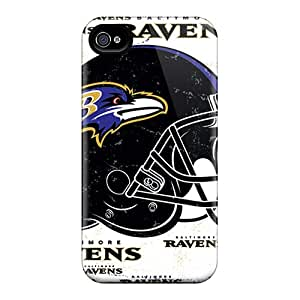 New Fashionable SuperMaryCases GMfKo3004CVBhx Cover Case Specially Made For Iphone 4/4s(baltimore Ravens)