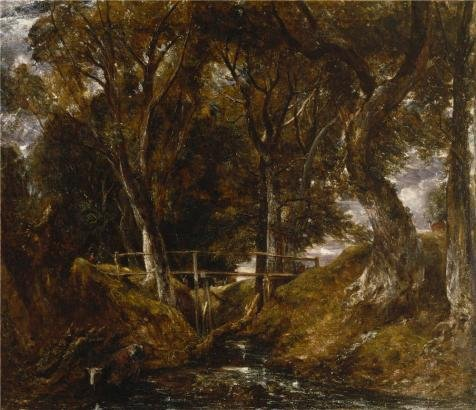 'John Constable,The Dell At Helmingham Park,1830' Oil Painting, 24x28 Inch / 61x71 Cm ,printed On High Quality Polyster Canvas ,this Amazing Art Decorative Prints On Canvas Is Perfectly Suitalbe For Bedroom Gallery Art And Home Decoration And Gifts