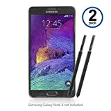 Galaxy Note 4 Stylus Pen, BoxWave® [Replacement S Pen (2-Pack)] Silicone Tip, Precise S Pen for Samsung Galaxy Note 4 - Jet Black