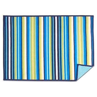 Fiesta Stripe Microfiber Dish Drying Mat No Size Turquoise