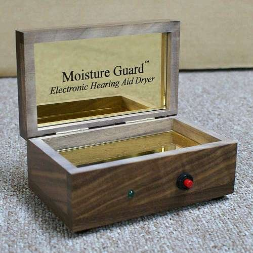 Moisture Guard Cherry Electronic Hearing Aid Dryer by Harris Communications