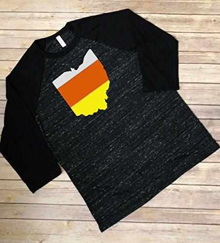 Ohio Candy Corn Halloween Shirt]()