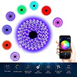 LEN RGB LED Strip Lights - LED Light Strip Compatible with Alexa, Google Home, IFTTT, WiFi Wireless Smart Phone Controlled - 5M Waterproof 150LEDs 5050SMD RGB Led Lights Full Kit
