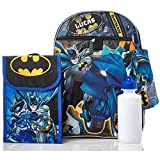 Personalized 16 Backpack with Bonus Lunch Bag, Pencil Case, or Carabiner Clip. (Personalized 16 Batman Backpack with Bonus Lunch Bag, Pencil Case, Water Bottle,and Carabiner Clip)
