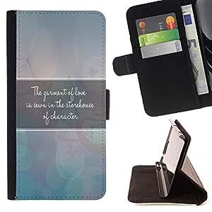 Momo Phone Case / Flip Funda de Cuero Case Cover - BIBLIA manto de Amor; - Samsung Galaxy Core Prime