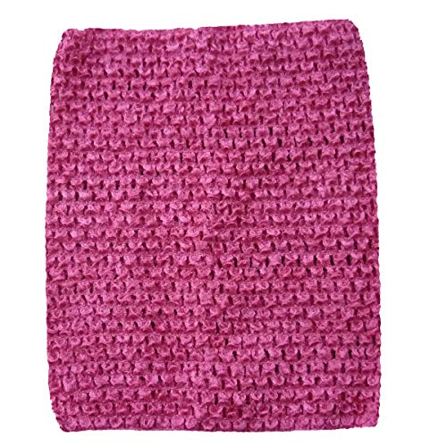 (KADIWOW Crochet Tutu Tops for Kids (6 INCH, Pink))
