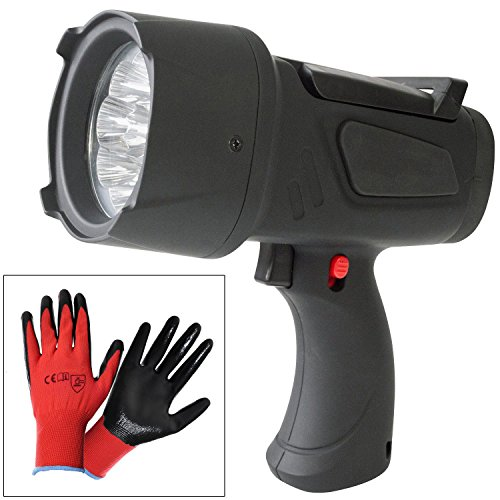 Superbright 9 LED Handheld Spotlight Torch with Batteries Included Plus...