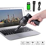 Keyboard Cleaner, Qilampe Rechargeable Mini Vacuum Cordless Vacuum Desk Vacuum Cleaner with Cleaning Gel for Cleaning Dust,Hairs,Crumbs,Scraps for Laptop,Piano,Computer,Car and Pet House