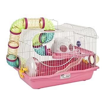 50% price huge inventory timeless design Hattie Little Zoo Cage à Hamster avec système de tuyaux en ...