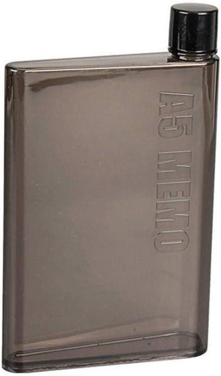 Botella De Agua Delgada A Prueba De Fugas Botellas De Bebida/Botella De Agua A Prueba De Fugas Planas Portátiles Reutilizables Transparentes Elegantes Sin BPA