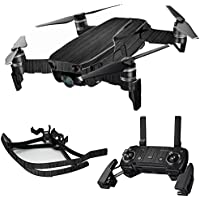 MightySkins Skin for DJI Mavic Air Drone - Black Wood | Max Combo Protective, Durable, and Unique Vinyl Decal wrap cover | Easy To Apply, Remove, and Change Styles | Made in the USA