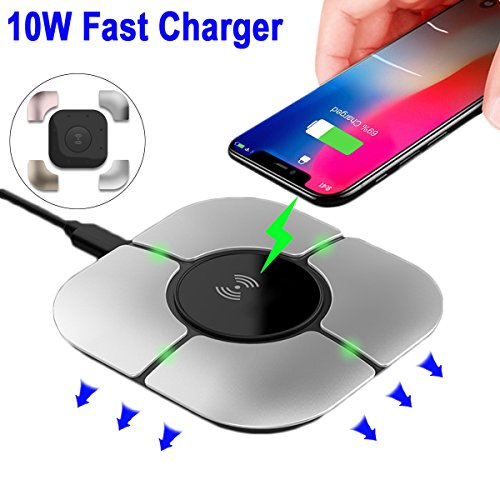 Fast Wireless Charger, 10W Wireless Charging Pad for iPhone Xs/XS Max/XR / X / 8/8 Plus Galaxy S9 /S9+ /S8 /S8+ / Note 8 DIY 10W Fast-Charging Stations -