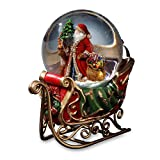 Santa with Reindeer and Sleigh Water Globe San