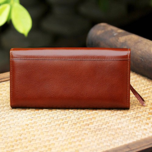 NOVICA Brown Leather Clutch, 'Touch of Love in Rust' by NOVICA (Image #5)
