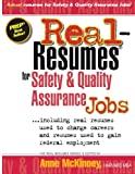img - for Real-Resumes For Safety & Quality Assurance Jobs book / textbook / text book