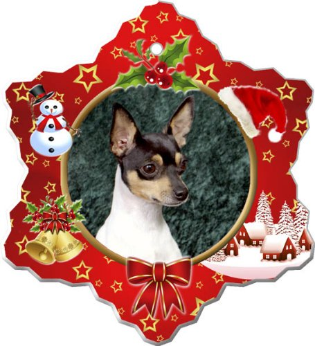 - Toy Fox Terrier Porcelain Holiday Ornament