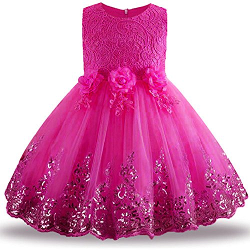 LZH Girls Bridesmaid Dress Wedding Pageant Party Princess Gown Prom Dresses (Gown Prom Slim)