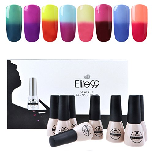 Elite99 Temperature Color Changing Gel Nail Polish Kit 8 Col