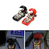 12v car battery terminals - 1 Pair Red Black Car Battery terminal connector Clamp Clips Negative Positive for Auto Car Truck