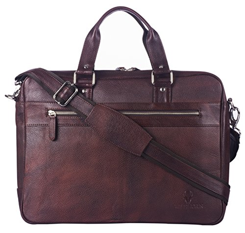 WildHorn Wildhorn India Leather 16 inches Brown Messenger Bag  MB304