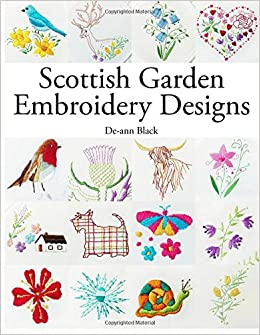 scottish garden embroidery designs amazon co uk de ann black
