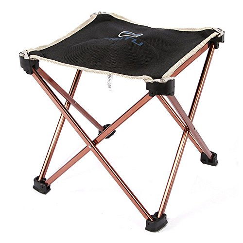Bry Protable Folding Stool Aluminum Oxford Cloth Stool Chair For Camping Fishing Traveling Beach by BNY